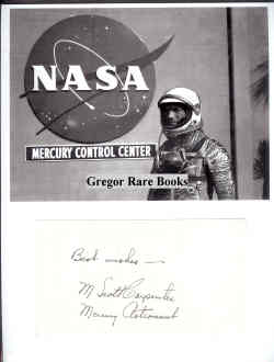 Astronaut Signed Card, photo.