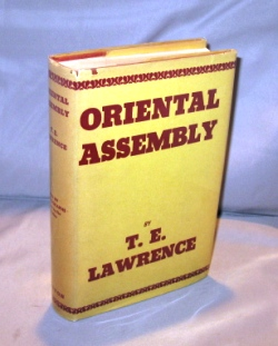 Oriental Assembly. Middle East History, T. E. Lawrence.