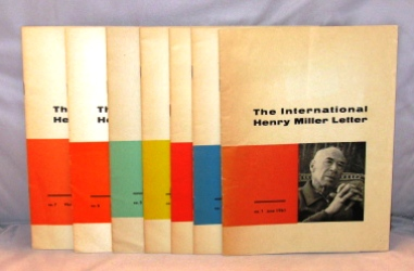 The International Henry Miller Letter. 7 issues, the complete run from June 1961 to March of 1966. Henry Miller.