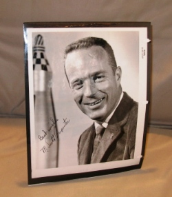 Signed Photograph of Astronaut of Scott Carpenter. Astronaut Signed Photograph, M. Scott Carpenter.
