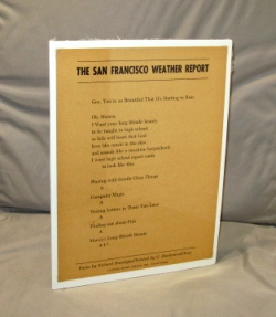 The San Francisco Weather Report. Richard Brautigan.