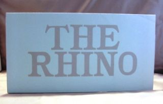 The Rhino. Illustrated by Ralph Steadman. Ralph Steadman, Edward Lucie-Smith
