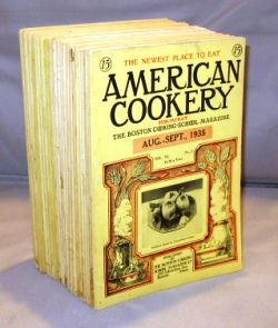 American Cookery. Formerly The Boston Cooking-School Magazine. 28 mixed issues. Cookery Magazines