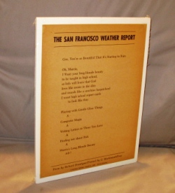 The San Francisco Weather Report: A Broadside Poem. Richard Brautigan