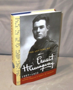 The Letters of Ernest Hemingway: 1907-1922. Edited by Sandra Spanier & Robert W. Trogdon. Ernest...