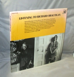 Listening to Richard Brautigan. Spoken Word, Richard Brautigan